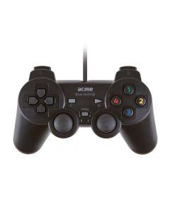 ACME Gamepad GA07, DVOSTRUKA VIBRACIJA, USB, crni