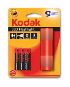 KODAK LED baterijska lampa + 3xAAA alk.bat. crvena
