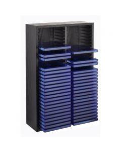 Drvena polica za 60 CD-ova, crna, uspravna