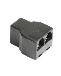 Adapter modularni ženski 6p4c na 2x ženski 6p4c