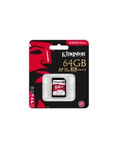 Kingston SDXC kartica Canvas React 64GB 100R/80W