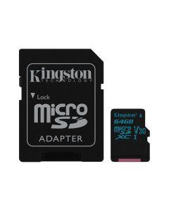 Kingston MicroSDXC Canvas Go 64GB class UHS-I U3