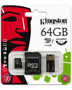 MobilityKit MicroSD 64GB Class10+SDadapter+USBcita