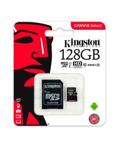 Mikro SD mem.kartica 128GB Kingston Canvas 80R c10