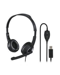 PC slusalice sa mikrofonom HS-USB250, stereo, crne