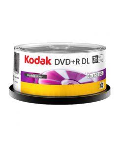 Kodak DVD+R 8.5GB DL 8x, 25 kom na štapu, 6 u kuti