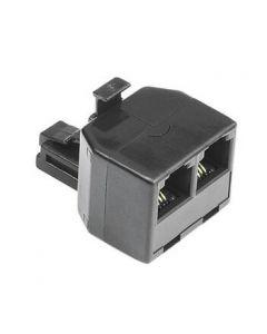 Adapter modularni muški 6p4c na 2x ženski 6p4c