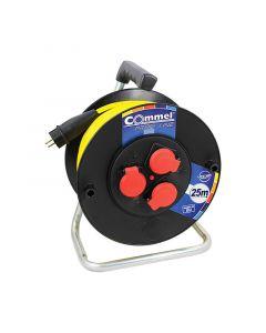 C0980 Commel Kabl sa motalicom PVC bubanj 280mm, monofazna 25m  H05RR-F 3G2,5