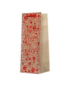 TK50 Canpol 1/24 Ukrasna kesa mat braon papir 150g/m2 sa sjajnim motivima dimenzija 12,7 x 33 x 11,3 cm