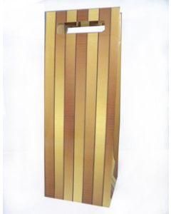 Ukrasna kesa, sjajni laminirani papir, 170g/m2,    sa usečenim drškama       za flašu