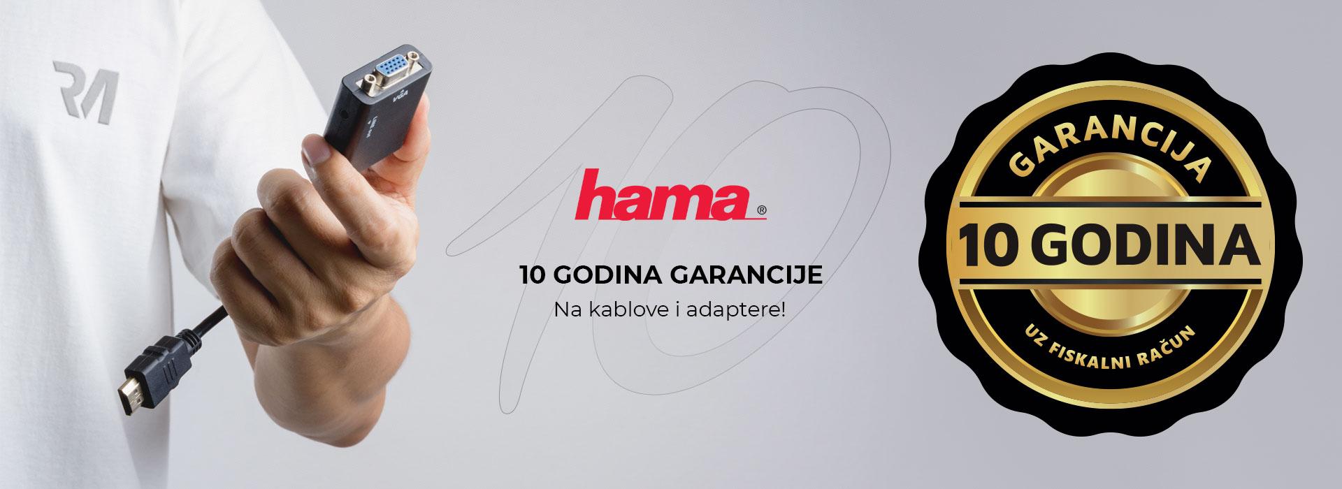 10 godina garancije na HAMA kablove i adaptere