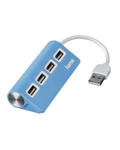 USB 2.0 HUB 1:4, plavi