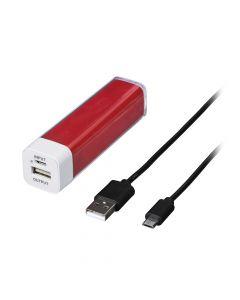 124525 Power Pack napajanje micro usb 2600 mAh crveni