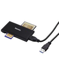USB 3.0 Multi citac kartica, SD/microSD/CF/MS,crni