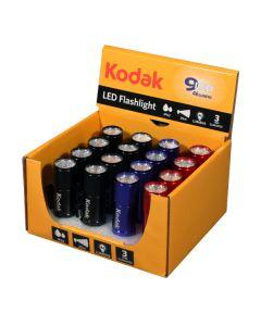30413894 Kodak LED baterijska lampa, crna i crvena i plava, 16 komada sa baterijama