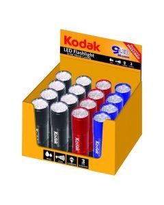 30413894 Kodak LED baterijska lampa, crna i crvena i plava, 16komada sa baterijama