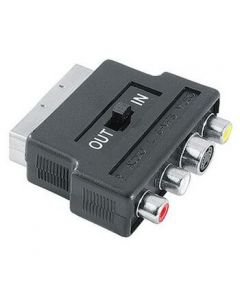 Adapter SCART (muški) na S-Video i 3x činč (ženski ), IN/OUT prekidač