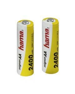 """87096 Hama """"Ready4Power"""" punjive baterije 2xAA 2400mAh"""