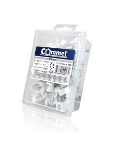 Kablovske obujmice 4-7 mm, bela 100 kom