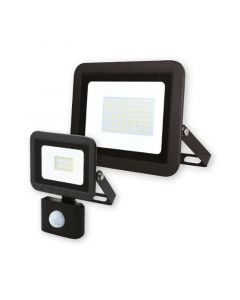 Commel C307-238 LED reflektor 30W detek pokreta 6500K 1400lm 25kh, PF>0.9, IP44, crni