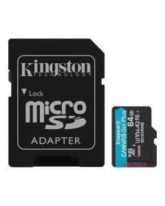 Kingston Canvas Go! Plus SDCG3-64GB Memorijska kartica i adapter microSD 64GB
