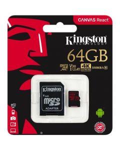 Kingston MicroSDXC Canvas React 64GB cla UHS-I U3