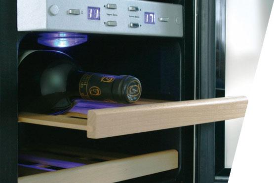 CASO rashladna vitrina za vina WineDuett 12