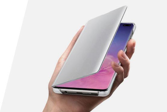 Samsung Clear View stojeca futrola, S10+, bela