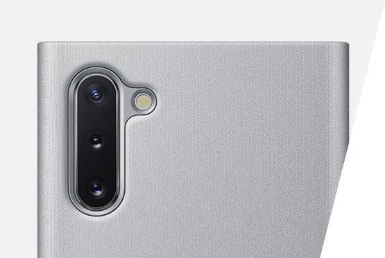 Samsung Galaxy Note10 Clear View maska srebrna