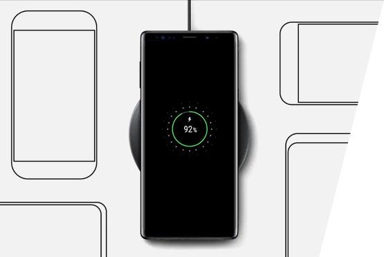 Bezicni brzi punjac za Samsung mob telefone, crni