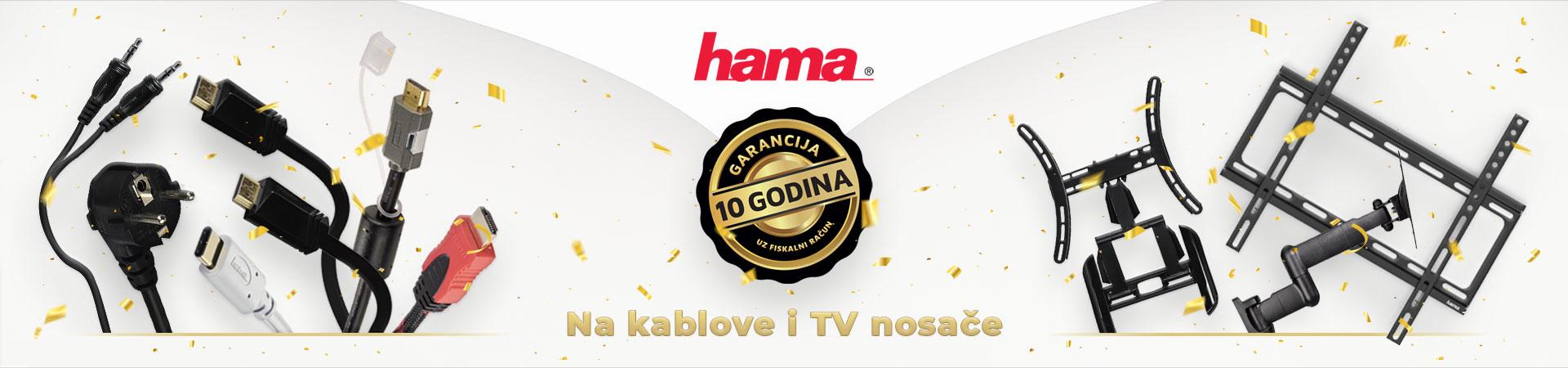 10 godina garancije na Hama kablove i TV nosače